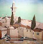 Az Olajfák hegye Jeruzsálemben (id: 19706) vászonkép óra