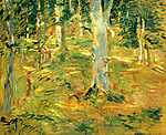 Berthe Morisot: Compiegne erdője (id: 2006) vászonkép óra