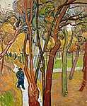 Vincent Van Gogh: A Szent Pál kórház kertje (Lombhullás) (id: 2906) tapéta