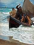 Peder Severin Kroyer: Halászok hazatérése 2. (id: 3806) vászonkép
