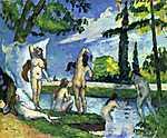 Paul Cézanne: Fürdőzők (id: 406) vászonkép óra