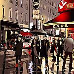 Párizsban éjszaka (id: 5106) falikép keretezve