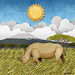 Rhino újrafeldolgozott papírhordozó háttér (id: 6206) többrészes vászonkép