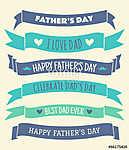 Apák napja bannerek gyűjteménye (id: 10207) vászonkép