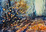 Őszi erdő (akvarell) (id: 13207) falikép keretezve