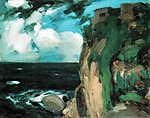 Vaszary János: Tengerpart (id: 19607) falikép keretezve