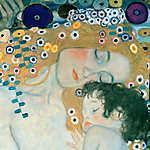 Gustav Klimt: Anya és gyermeke (id: 19807) vászonkép óra
