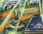 Scheiber Hugó: Térdelő lány  (id: 21407) vászonkép