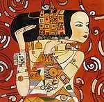 Gustav Klimt: FV - Várakozás (átdolgozás, részlet) (id: 3607)