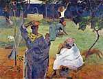 Paul Gauguin: Mangófák között - Színverzió 1. (id: 3907)