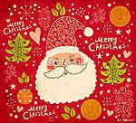 Karácsonyi vektoros illusztráció vicces Mikulás (id: 11908) tapéta