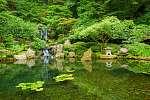Japánkert, kis vízeséssel (id: 12308) vászonkép