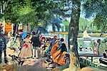 Pierre Auguste Renoir: Emberek a parton (id: 1408) poszter