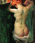 Vaszary János: Álló női akt (id: 19608) vászonkép óra