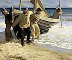 Csónak vízre bocsátása (1884) (id: 4008) vászonkép
