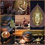 Ázsiai Spa dekoráció Buddha barna és fekete színben (id: 5008)