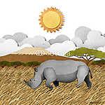 Rhino újrahasznosított papírhordozó háttér (id: 6208) többrészes vászonkép