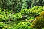 Japánkert híddal (id: 12309) falikép keretezve