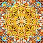 Colorful geometric kaleidoscope fractal (id: 13109) többrészes vászonkép