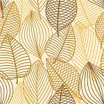 Yellow and brown leaves seamless pattern vászonkép, poszter vagy falikép