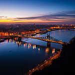 Budapest fényei, Szabadság-híd (id: 14309) falikép keretezve
