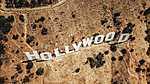 Hollywood felirat - Drónkép (id: 16909) falikép keretezve