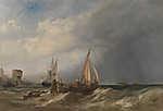 Egy holland bárka kifut a rotterdami kikötőből (id: 18109) poszter