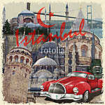 Istanbul vintage poster. (id: 19209)