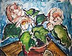 Dénes Valéria: Csendélet virágcseréppel (id: 19709) poszter