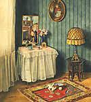 Koszkol Jenő: Enteriőr (id: 19909) vászonkép óra
