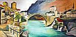 Mary Cassatt: A Római híd Mosztárban ( Színverzió 3) (id: 20309) vászonkép