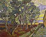 Vincent Van Gogh: A Szent Pál kórház kertje (id: 2909) vászonkép óra