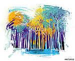 Art-erdő (id: 10310) vászonkép óra