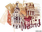 Madrid város (id: 10410) vászonkép óra