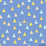 Zökkenőmentes minimális vektor mintázat színes háromszögekkel. A (id: 11310) poszter