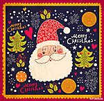 Karácsony vektoros illusztráció vicces Mikulás (id: 11910) tapéta