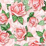 Floral seamless pattern. Watercolor background with beautiful ro (id: 14110)