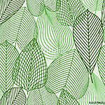 Spring green leaves seamless pattern (id: 14210) poszter