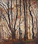 Mednyánszky László: Őszi erdő (színverzió 1) (id: 19910) falikép keretezve