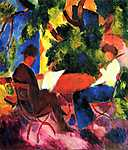 August Macke: Ketten a kertben (id: 2410) falikép keretezve