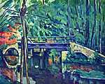Paul Cézanne: Híd az erdőben (id: 410) falikép keretezve