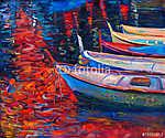 Csónakok napnyugtakor (id: 4310) vászonkép