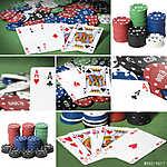 Póker kollázs (id: 6010) vászonkép