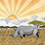 Rhino újrahasznosított papírhordozó háttér (id: 6210) többrészes vászonkép