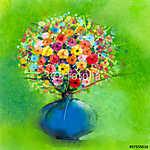 A tavaszi virág virágos festménye. Művészi stílus (id: 9010) többrészes vászonkép