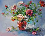Art olajfestmény - csendélet a rózsákkal (id: 10011) vászonkép óra