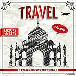 Vintage travel India ünnepi plakát (id: 11811)