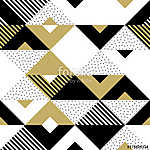 Triangle geometric abstract golden seamless pattern. Vector back (id: 13411) falikép keretezve