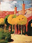 Vaszary János: Nyaralóház (id: 19611) falikép keretezve