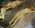 Gustav Klimt: Élő víz (id: 19811) falikép keretezve